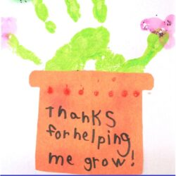 There's Just One Mommy- Handprint Plant Card