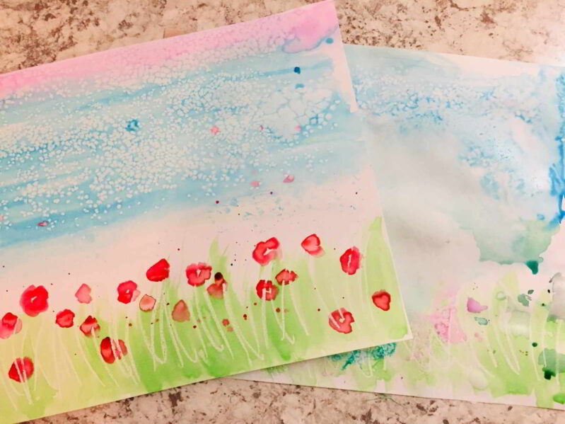 Looking for an easy art activity for kids? Try these fun watercolor techniques-- great for toddlers and preschoolers to begin painting