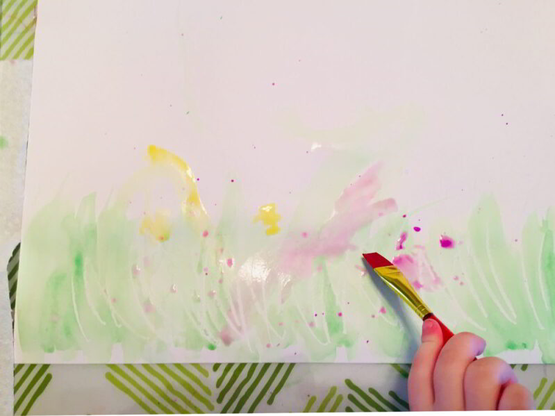 splatter painting is a simple and easy watercolor technique for kids to learn