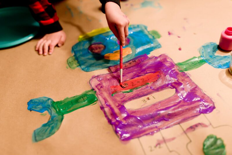 Paint and learn math with a simple activity for kids!