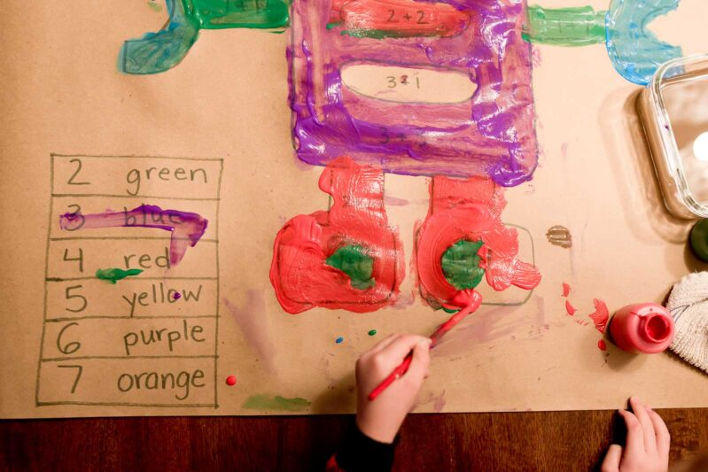 We love this simple, easy painting activity for kids that doubles as learning project!