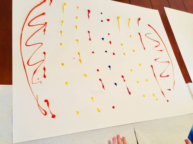 Try this big paper Easter egg art project. You'll love this bright scrape painting project!