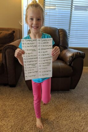 Build a Word Gross Motor Movement Game for Kids