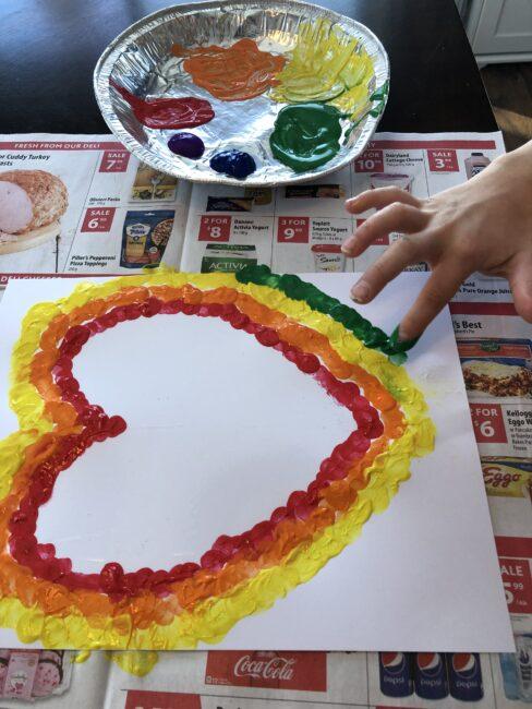 creating a fingerprint heart!