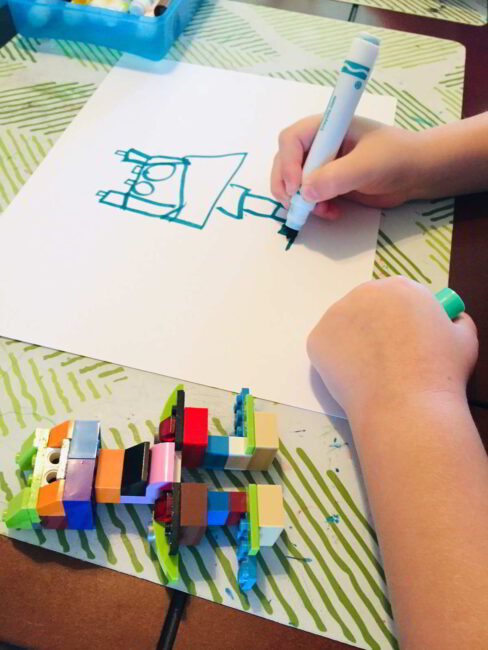 Remix a classic LEGO build, and with this simple LEGO 2D art challenge!