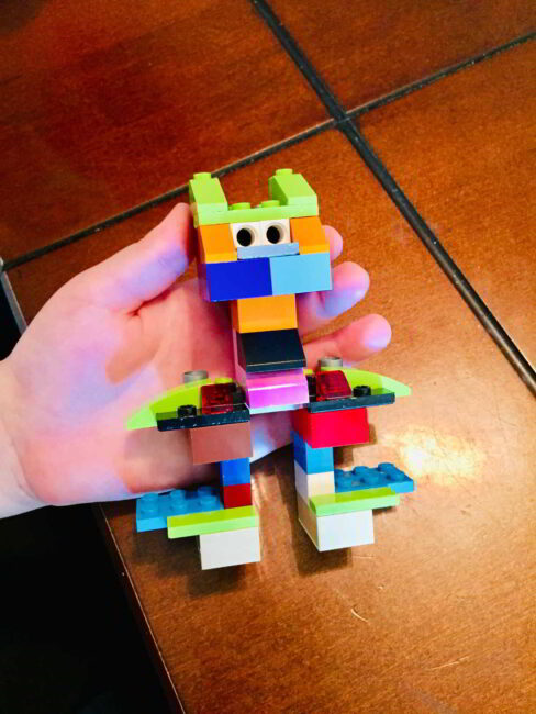 Keep creating with a simple 3D to 2D LEGO artwork idea for kids!