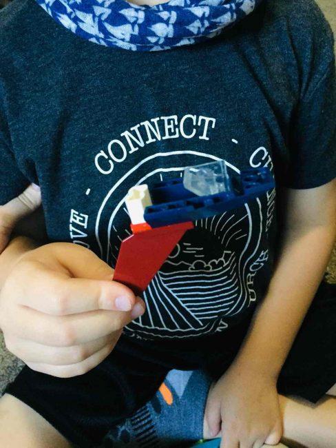 LEGO Building challenge -- blindfolded.