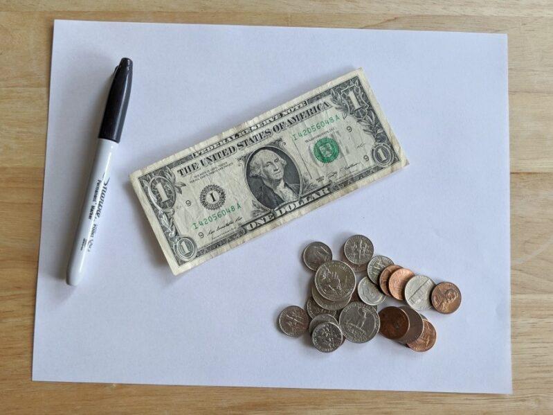 Money Scavenger Hunt Supplies