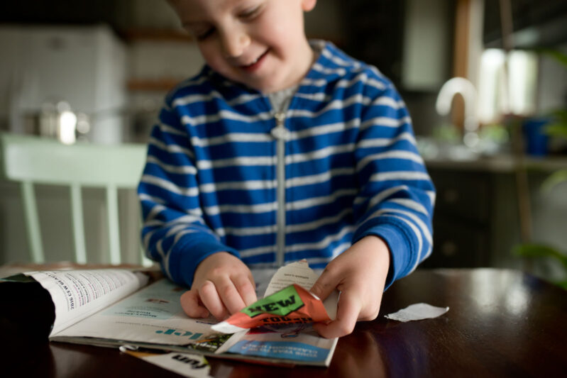 This super creative fine motor skills activity takes kids on a magazine scavenger hunt!