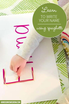 Learn To Write Your Name With Spaghetti Letters   Preschooler Activity