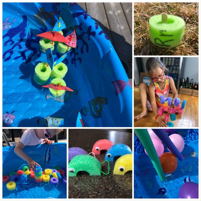 Some new and exciting pool noodle activities to try! Turns out there are a lots of things to do with old pool noodles. Bonus, recycle while having fun!