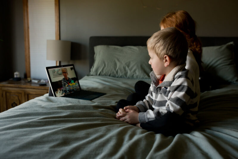 play 'odd one out' over facetime or skype - a fun game for kids to play when you can't get together in person