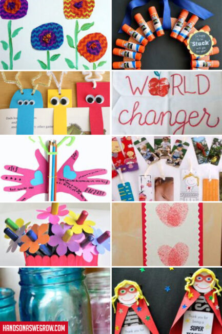 so many fun teacher appreciation gifts for kids to make