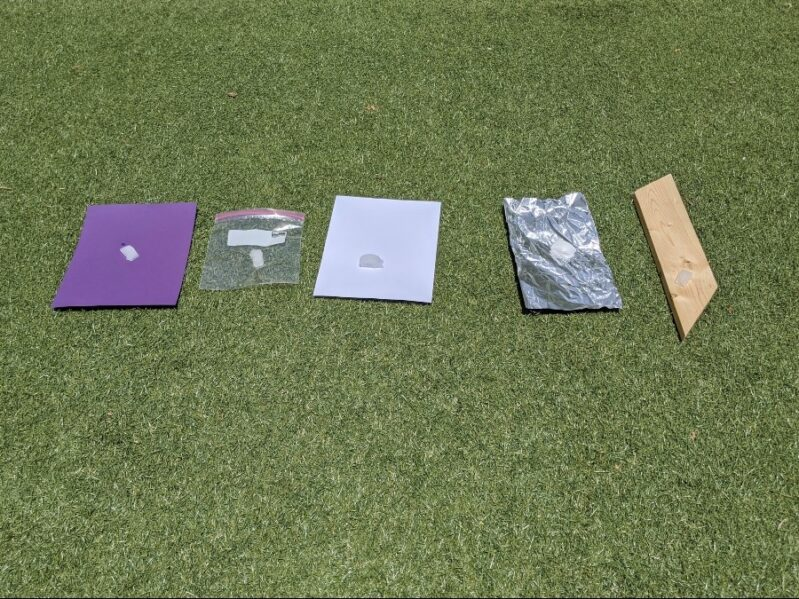 What makes ice melt faster kids outdoor science experiment using ice cubes and the hot sun!
