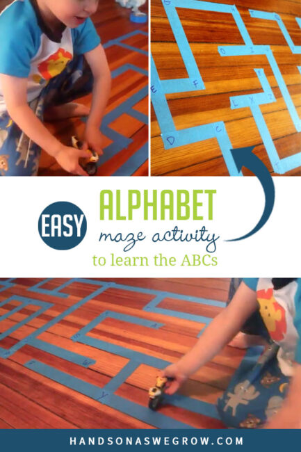 Strengthen Alphabet recognition with this super simple and fun ABC maze activity.
