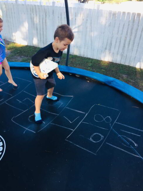 Trampoline game for kids