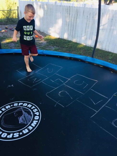 Try alternating one foot, two feet on the trampoline