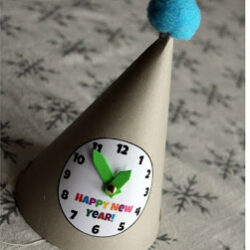 DIY Clock Hat - Reading Confetti