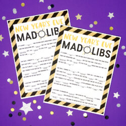 New Years Eve Mad Libs - Happiness is Homemade