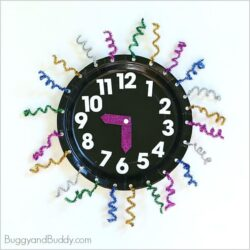 Paper Plate Countdown Clocks - Buggy and Buddy