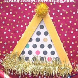 Popsicle Stick Party Hats - Glued to My Crafts Blog