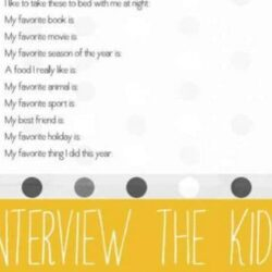 Year End Interview Questions for Kids - Hands On As We Grow