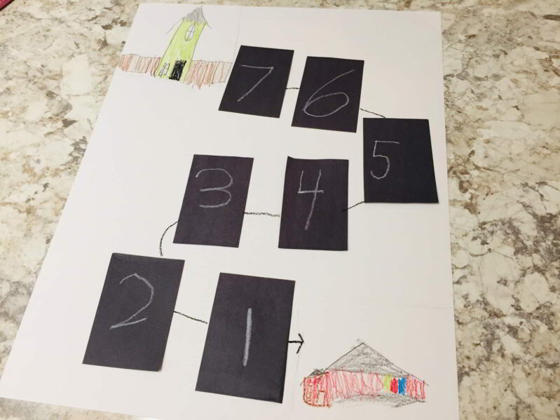 Back to school countdown art project for kids.