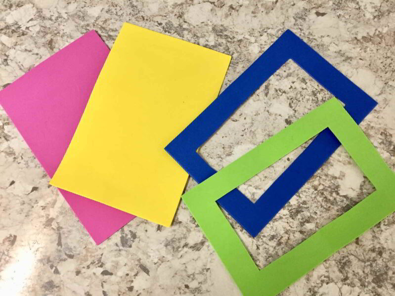 Make foam frames for the kids to use in the sandbox