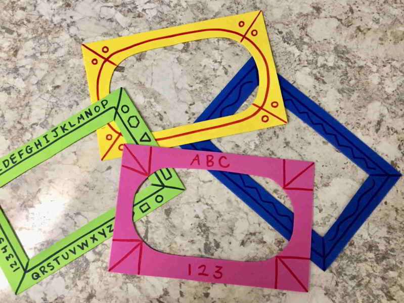 Simple frames for sand drawing for kids