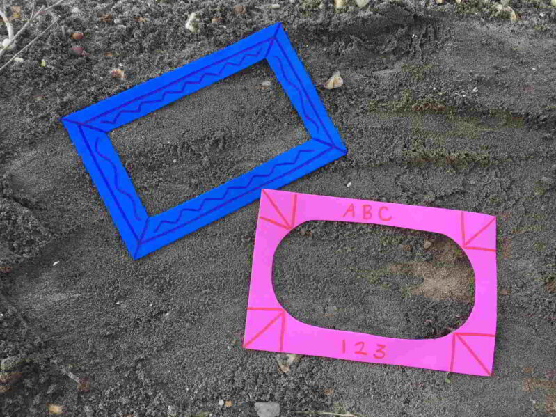 Set your frames out in the sandbox