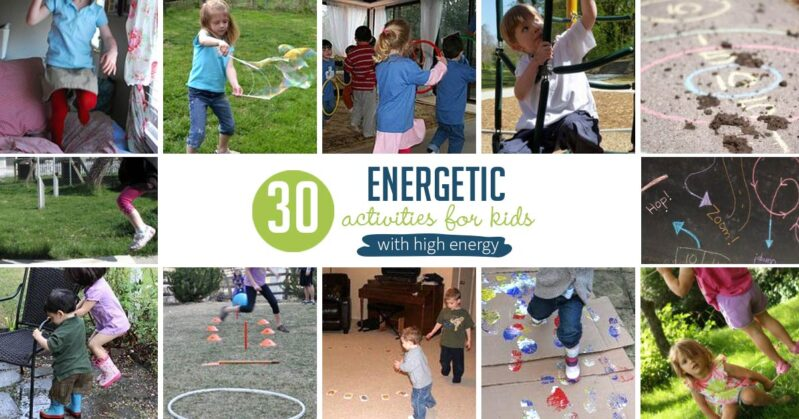 Energetic activities for kids are important in gross motor skills development of any child, and a necessity for kids with high energy.