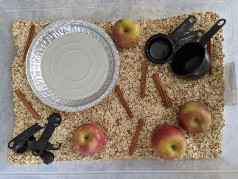 Independent Apple Pie Sensory Bin