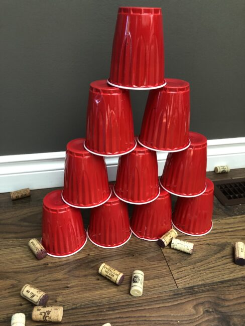 We've put together a collection of things to do with wine corks. Like this one: Cork Tower Knock Down