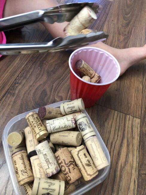 We've put together a collection of things to do with wine corks. Like this one: Wine Cork Cup Transfer.
