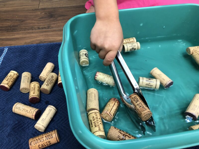 We've put together a collection of wine cork activities for kids. Like this one: Wine Cork Bobbing.