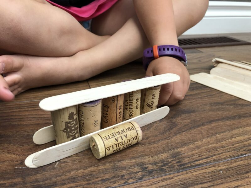 We've put together a collection of wine cork activities for kids. Like this one: Cork and Popsicle Stick Building.