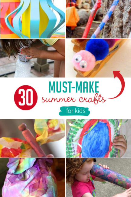 What kind of crafts do you think of as must-make summer crafts for kids? How about summer crafts for preschoolers? Here's 30 easy nostalgic classic craft!