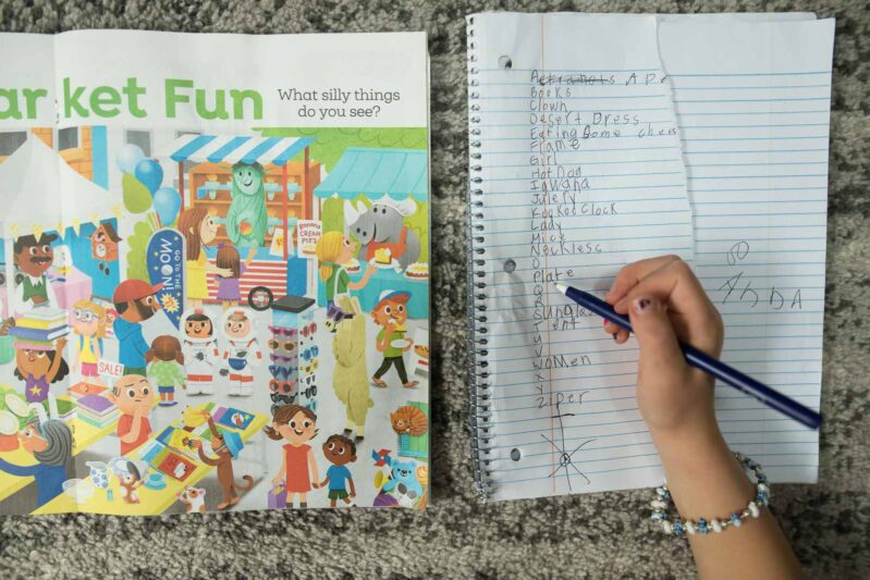 Practice letter sounds and writing with the fun and easy scavenger hunt game.
