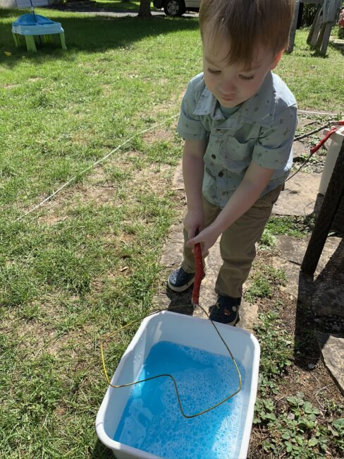 Your kids will love making bubbles with these DIY giant bubble wands!