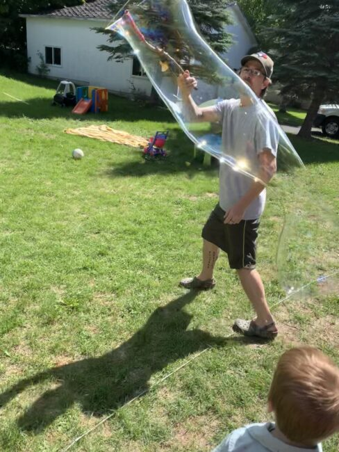 Get everyone involved in making the biggest bubbles you can with these homemade bubble wands.