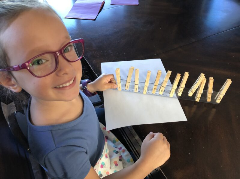 Ruler number match-up activity for kids