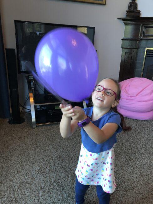Super simple balloon bump ruler activity.