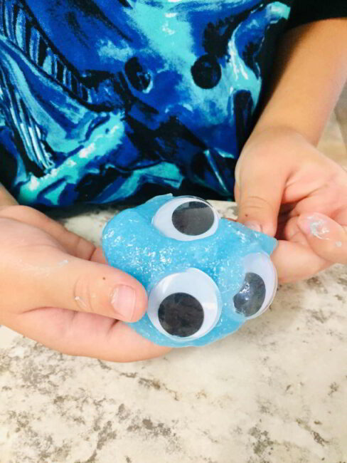 Make easy monster eyeball slime with the kids!