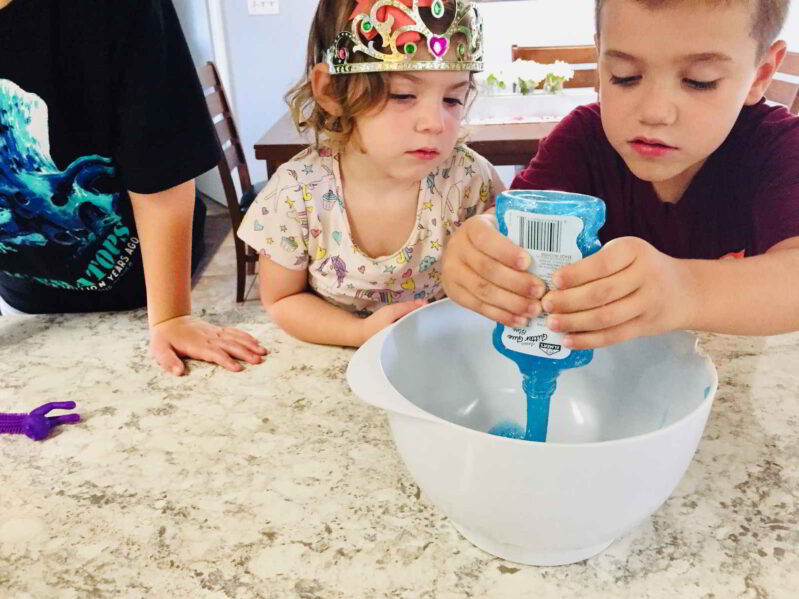 Make easy monster slime with the kids! Ready to play with in minutes.