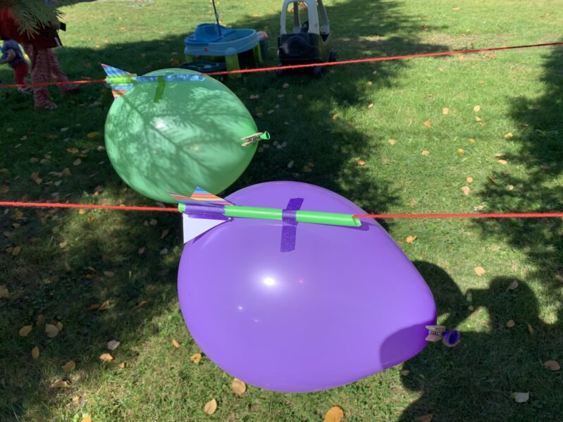 This is how NOT to tape the balloons on