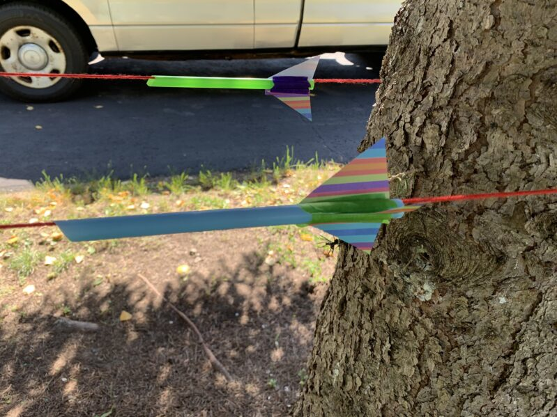 create straw rocket base for balloon race experiment