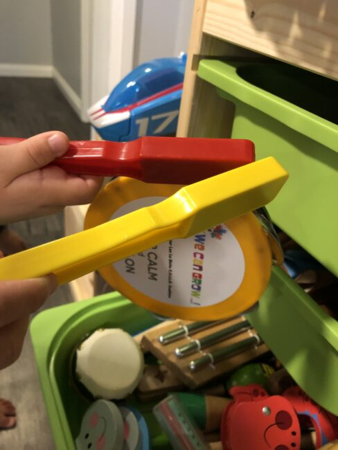 Use magnet wands to go on a magnetic loose parts scavenger hunt.