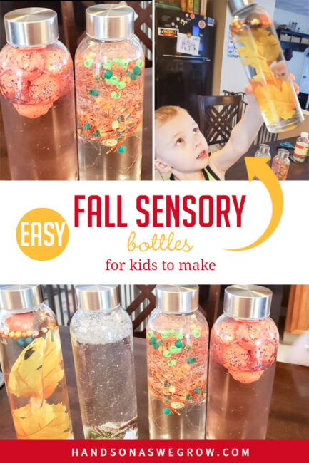 Fall Sensory Bottles Are Quick And Easy For Kids To Make Hoawg