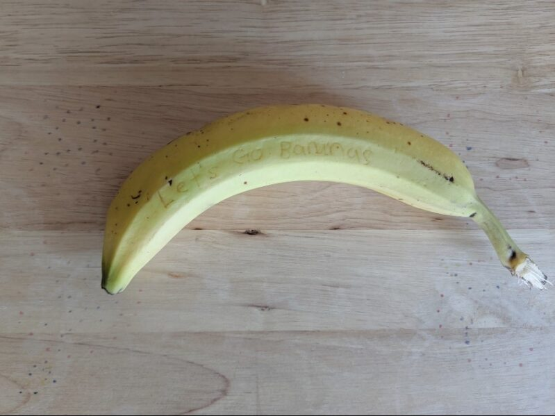 Banana Message Science Experiment