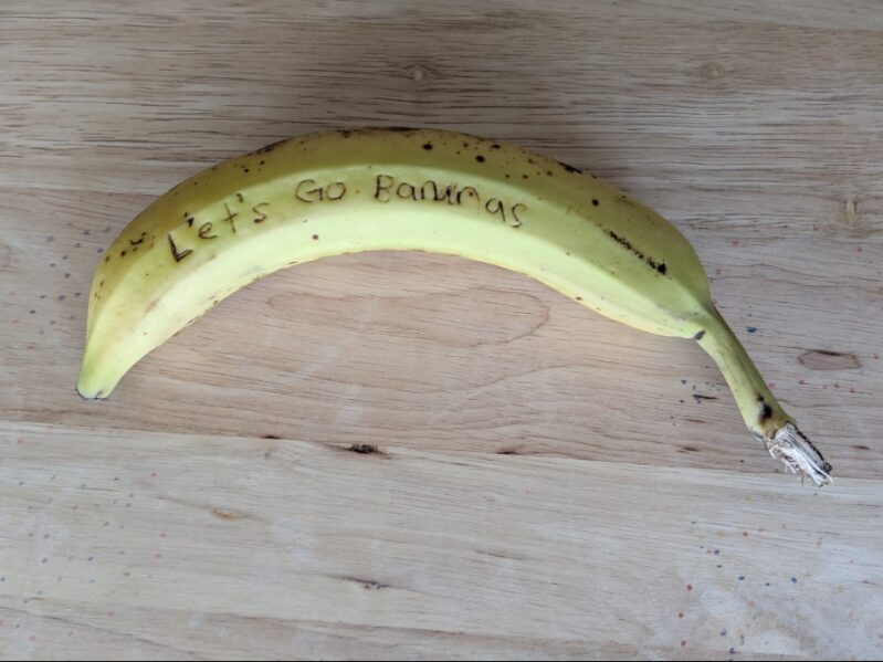 Banana Science Experiment for Secret Messages